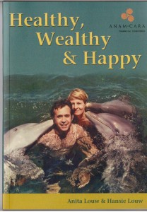 Hansie and Anita with  Dolphins ... front cover of book