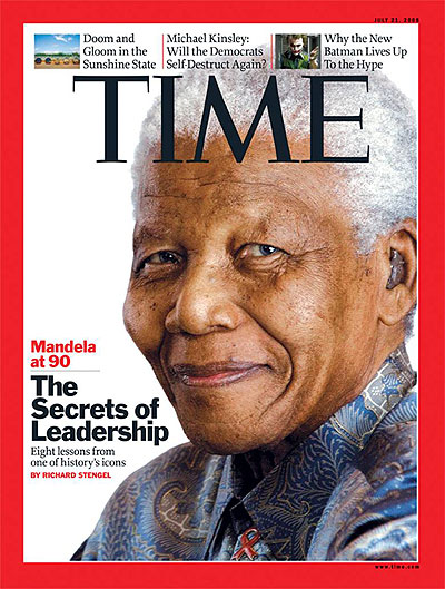Madiba on the cover of Time Magazine